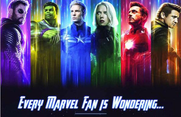 What is happening in Avengers Endgame Movie super heroes image in trailer