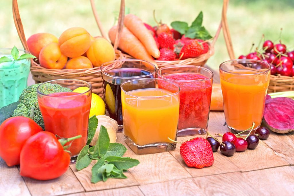 Fruits and juices image