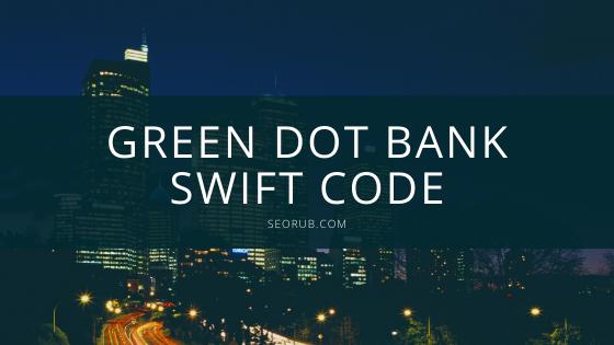Green dot bank swift code